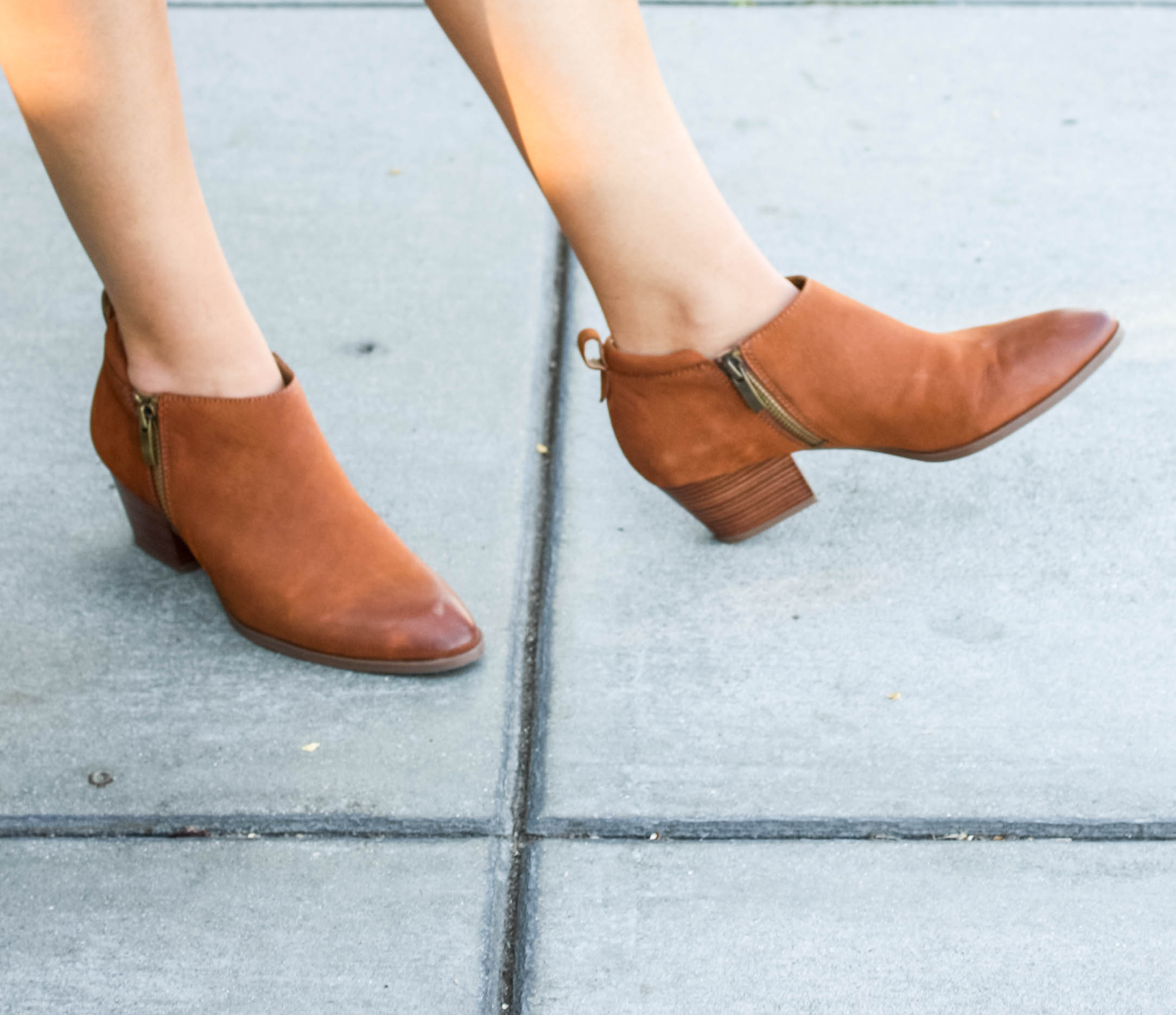 Franco Sarto brown booties from the nordstrom sale