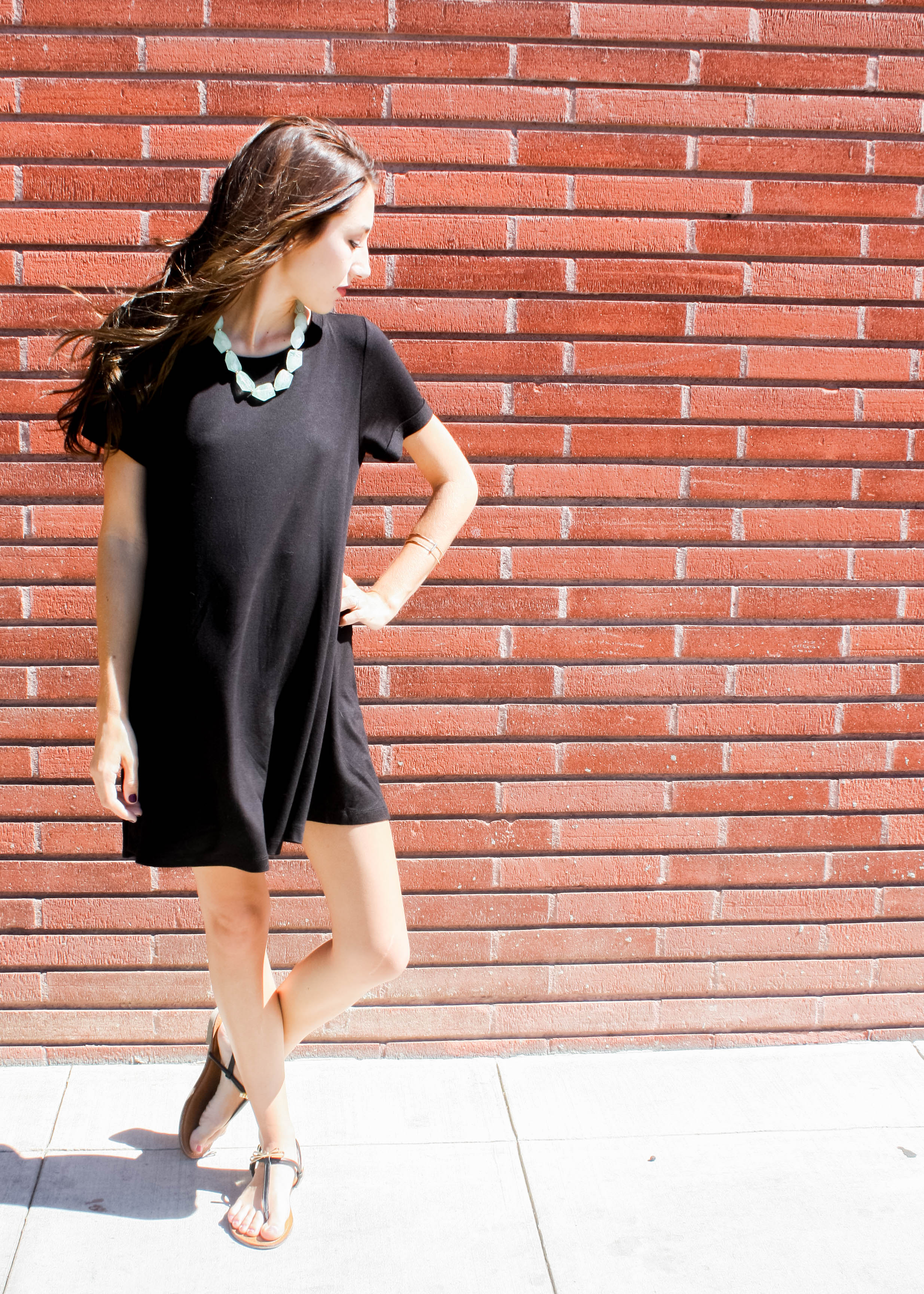 Black T Shirt Dress Outfit