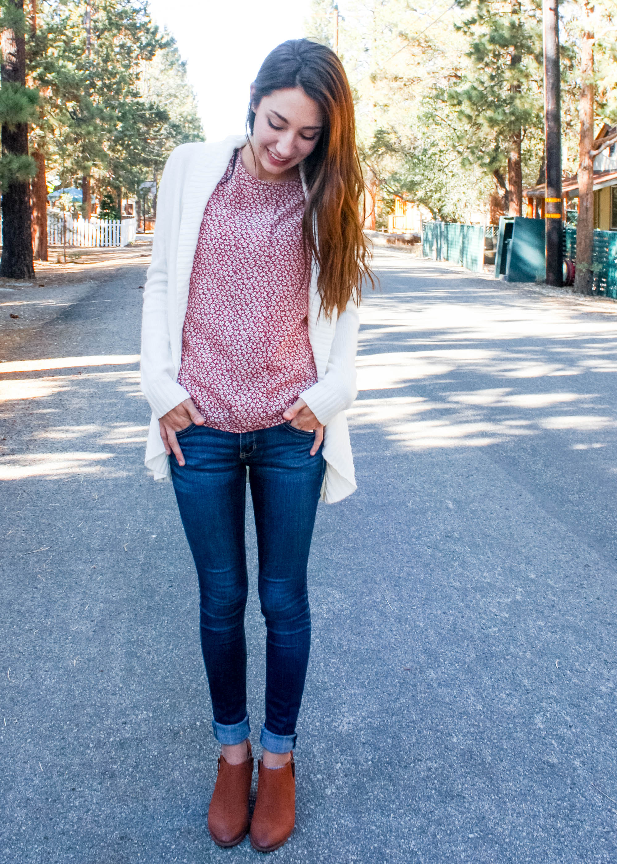 Transitioning into fall tank top and cardigan