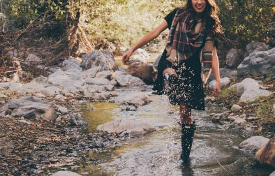 Girl in River Hunter Boots