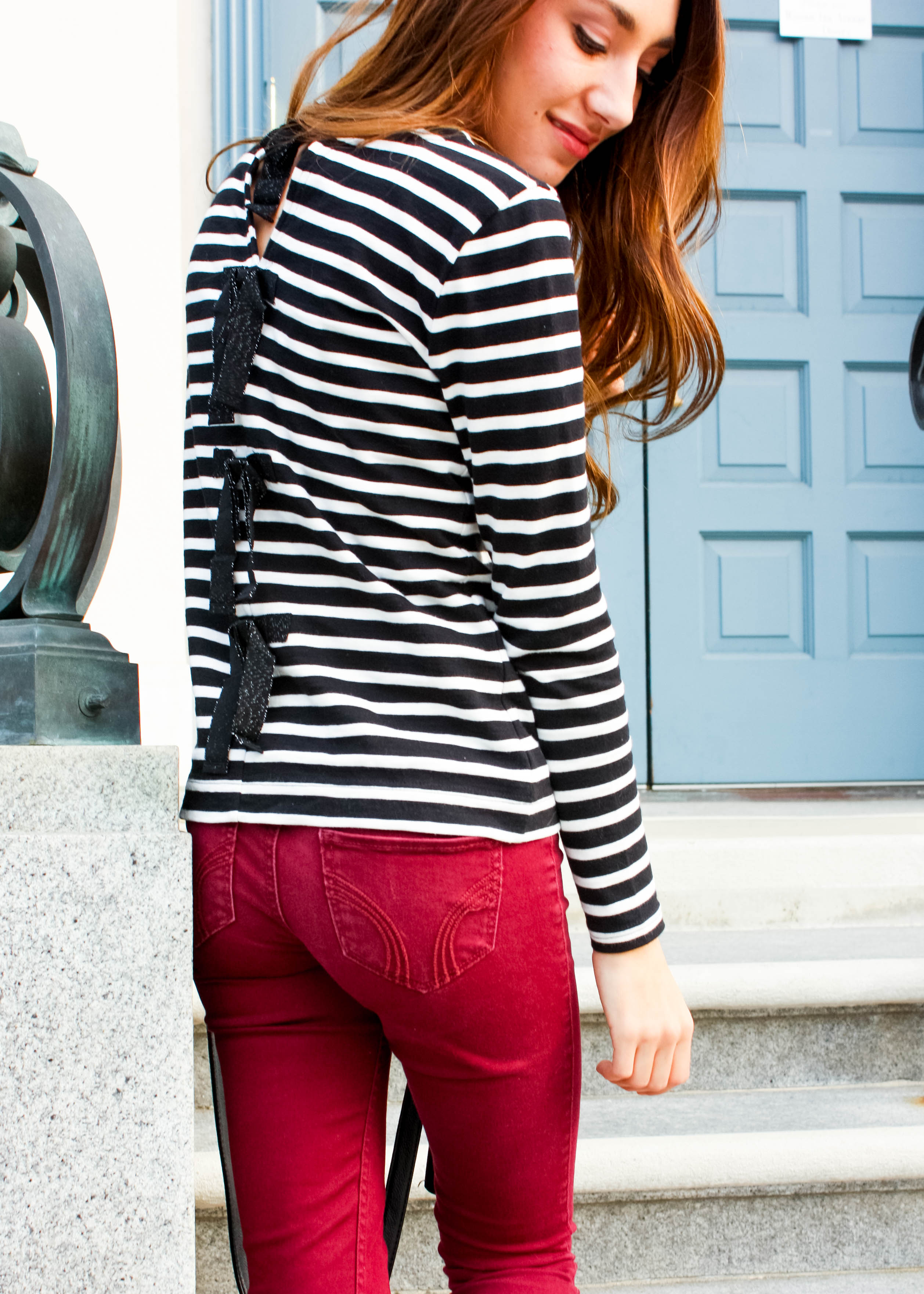 Moo's Musing J Crew Bow Back Sweater