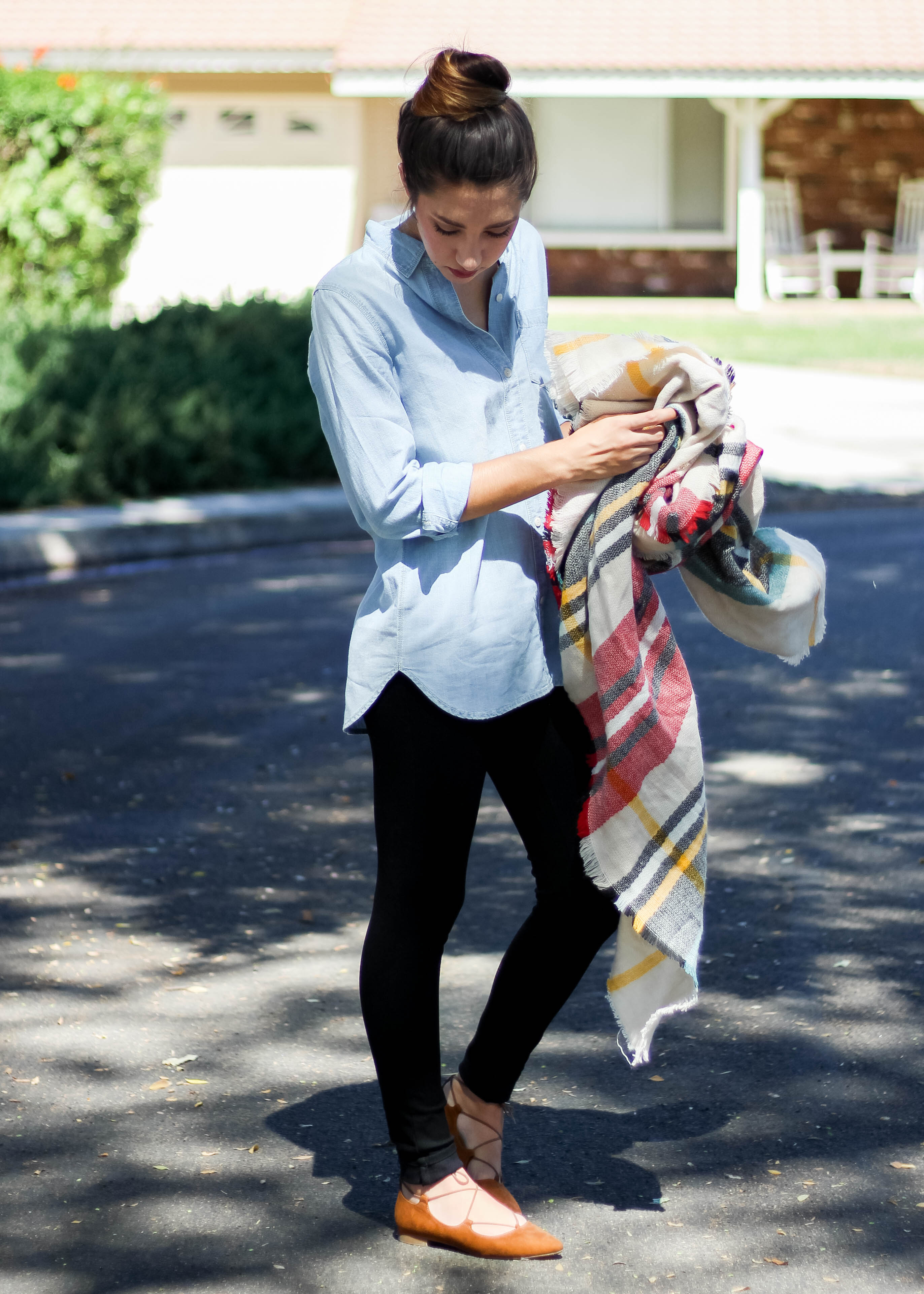 Madewell Chambray Blanket Scarf
