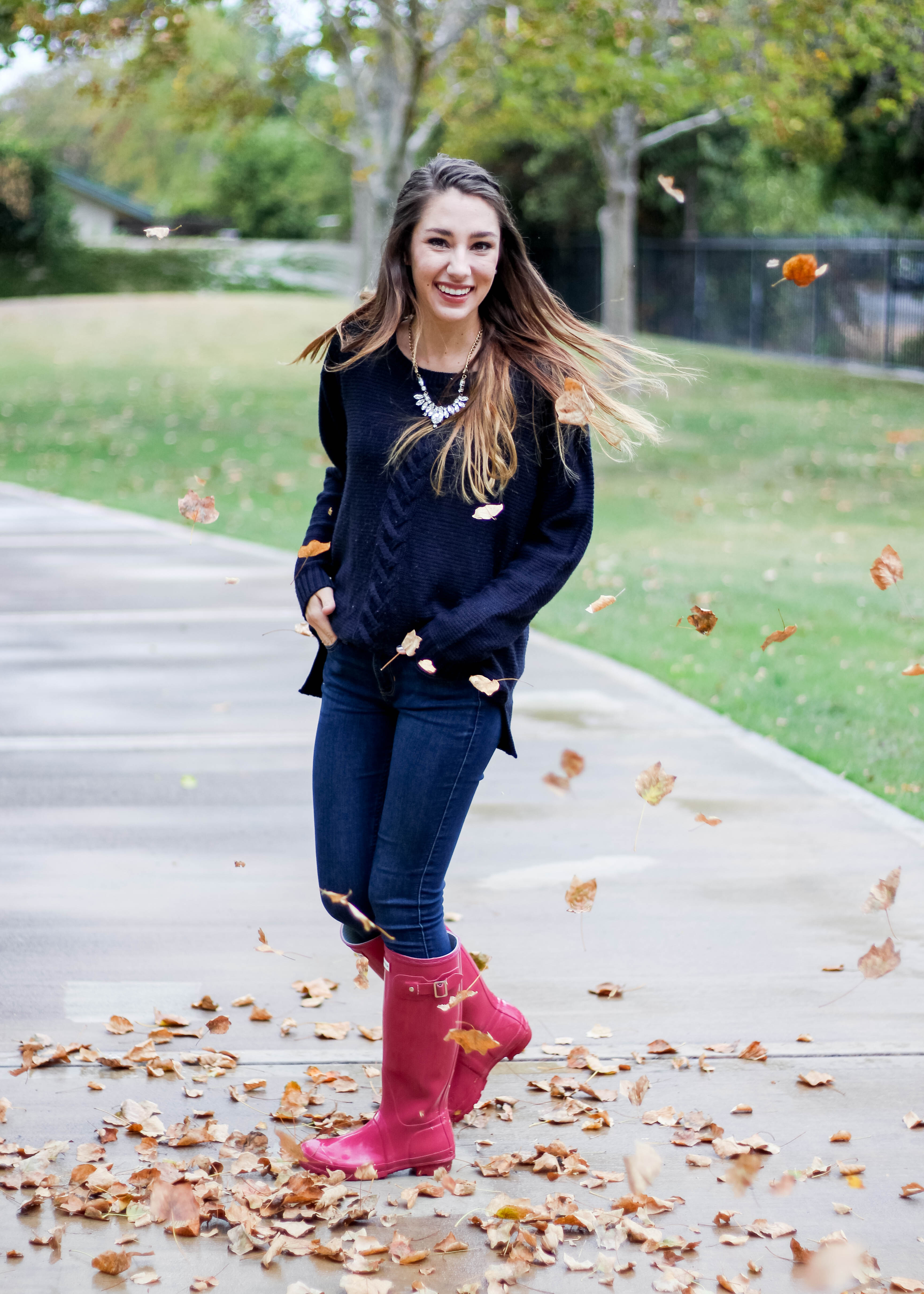 Rain Boots Outfit