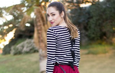 Bow Sweater Striped